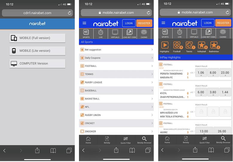 NairaBet app