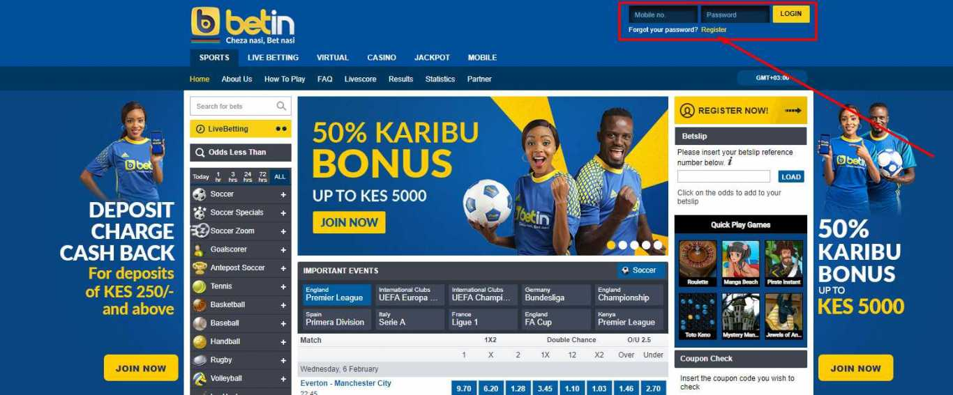 Betin online registration
