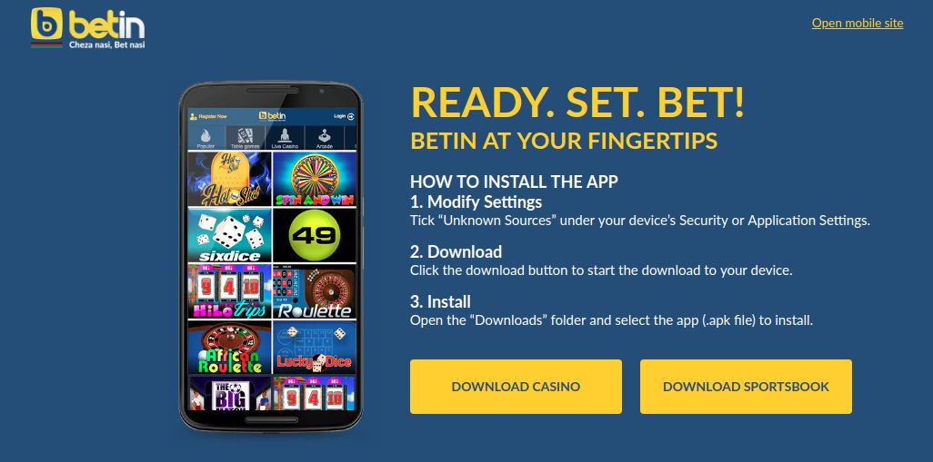 Download Betin application