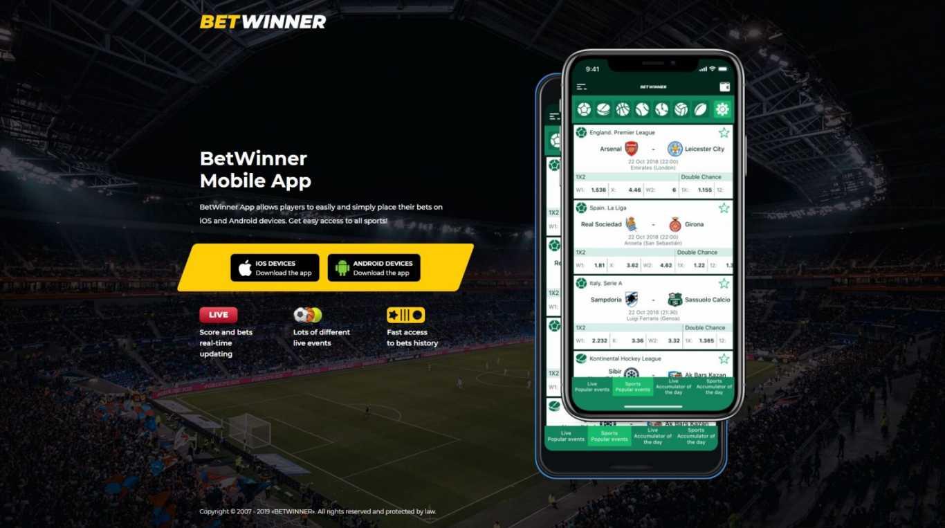 BetWinner mobile app