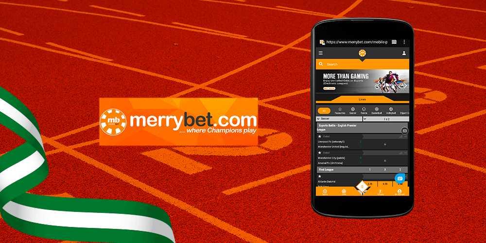 MerryBet Mobile app
